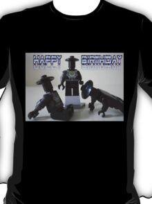 Happy Birthday Greeting Card of Custom Cyber Droid Shadow Soldier T-Shirt