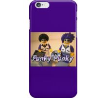 Funky Punky DJ Clubbing Tru & his Dad Disco Stu (with CD and Record)  iPhone Case/Skin