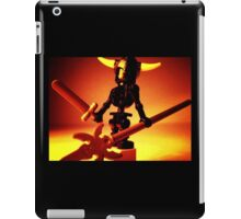 Black Skeleton Viking Helmet and Warrior Weapons iPad Case/Skin
