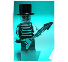 Guitarist Custom Minifigure with Guitar Poster