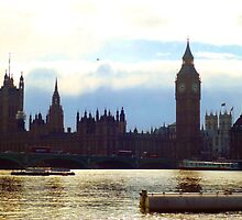 Palace of Westminster and Westminster Bridge - London by pieandcoffee
