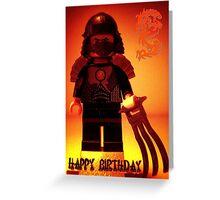 Happy Birthday Greeting Card TMNT Teenage Mutant Ninja Turtles Master Shredder Custom Minifig Greeting Card