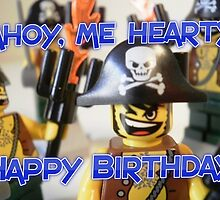 """Happy Birthday"" Pirate Captain Birthday Greeting Card by Chillee"