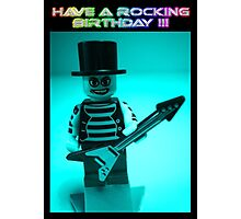 """Have a Rocking Birthday"" Custom Emo Guitarist Birthday Greeting Card Photographic Print"