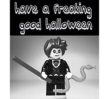 """Have a Freaking Good Halloween"" Custom Evil Magician Greeting Card Photographic Print"