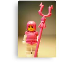 Pink Chinese Hero Warrior Custom Minifig Canvas Print