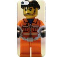 Convict Prisoner Minifig Minifigure with Handcuffs iPhone Case/Skin
