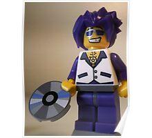 DJ Clubbing Tru Son of Disco Stu Custom Minifigure with CD Poster