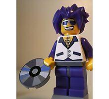 DJ Clubbing Tru Son of Disco Stu Custom Minifigure with CD Photographic Print
