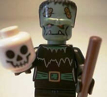 Frankensteins Monster Custom Minifigure with Skull, 'Customize My Minifig' by Chillee