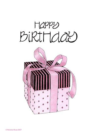 Pink & Black Gift Birthday by Mariana Musa