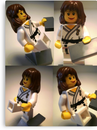 Judo Karate Martial Arts Girl Custom Minifigure  by Chillee