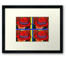 THE RED HATS Framed Print