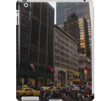 Christmas Shopping on Fifth Avenue, Manhattan, New York City iPad Case/Skin