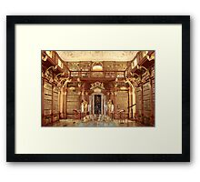 The Monastery Library, Melk, Austria Framed Print
