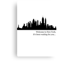 """""""Taylor Swift, Welcome to New York"""" Canvas Print"""