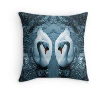 Swan III Throw Pillow