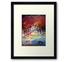 Trees in autumn Framed Print