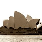 Sydney Opera House in sepia  by Martin Pot