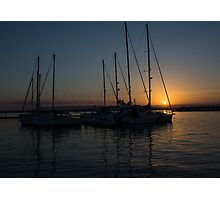 Sicilian Sunset at the Syracuse Harbour  Photographic Print