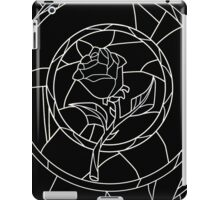Stained Glass Rose Black iPad Case/Skin