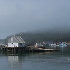 A Foggy Morning in Stonington Harbor by yukonjack