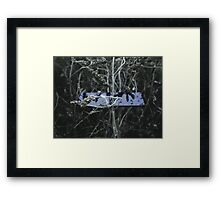 Black mirror-Fog and cold Framed Print