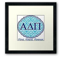 Alpha Delta Pi Framed Print