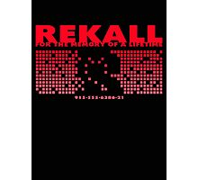 Rekall T-Shirt Photographic Print