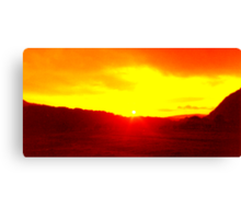 Gwern Eithern Sunset Canvas Print
