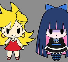 Panty and Stocking Chibis by Chibify