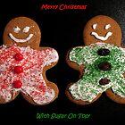 Gingerbread Cookies Christmas Card by Pamela Burger