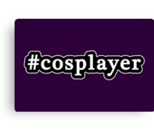 Cosplayer - Hashtag - Black & White Canvas Print