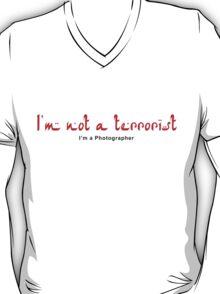 Not a Terrorist - Red T-Shirt