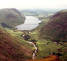 Wastwater from Great Gable by Gordon Hewstone