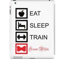 EAT. SLEEP. TRAIN. SNOW WHITE. - Princess workout collection iPad Case/Skin