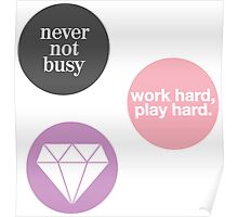 boss lady (set of 3 stickers) Poster