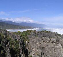 Pancake Rocks, New Zealand by Tanyamcaleer