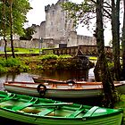 Boats at Ross Castle, Killarney, Ireland by ThomasMaher