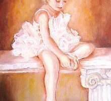 LITTLE BALLERINA AT REST PAINTINGS BY CAROLE SPANDAU by Carole  Spandau