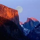 Moon Rise Over Yosemite by Jim Sells