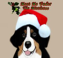 *•.¸♥♥¸.•* MEET ME UNDER THE MISTLETOE CANINE PILLOW AND OR TOTE BAG*•.¸♥♥¸.•*  by ✿✿ Bonita ✿✿ ђєℓℓσ