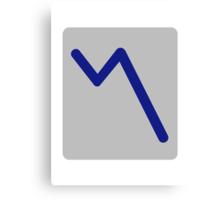 Chart statistics icon Canvas Print