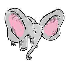 Cute baby elephant by Kiipleny