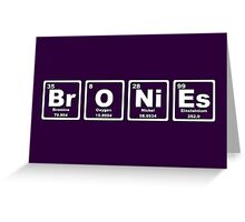 Bronies - Periodic Table Greeting Card
