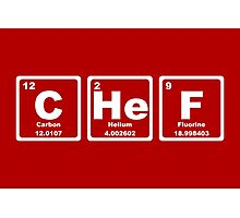 Chef - Periodic Table Photographic Print