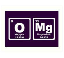 OMG - Periodic Table Art Print