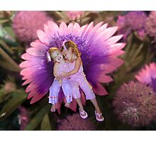 Hugs (In Fuschia) Second Version Photographic Print