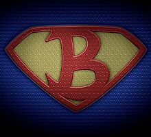 """The Letter B in the Style of """"Man of Steel"""" by BigRockDJ"""
