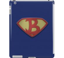 """The Letter B in the Style of """"Man of Steel"""" iPad Case/Skin"""